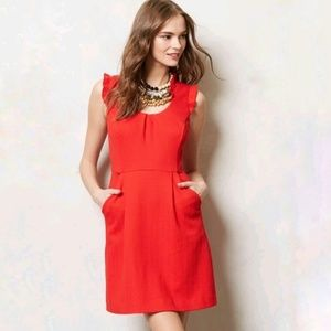 Anthropologie Tabitha Cherie Red Dress